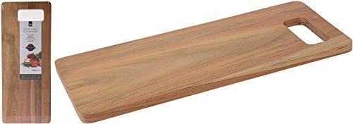 Rechteckige Form 44x 18cm Teak Holz Schneiden Käse Servierbrett Schneidebrett