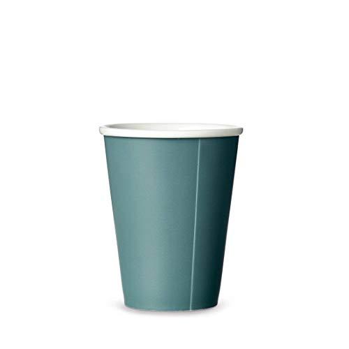 Viva Scandinavia Tasse à thé en porcelaine, gobelet de café, design moderne, 300 ml, bleu foncé