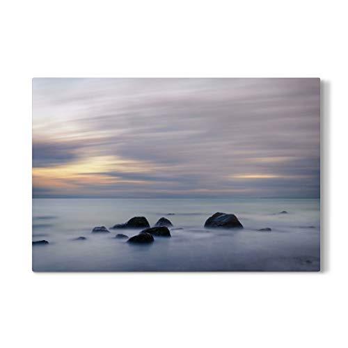 artboxONE Galerie-Print 30x20 cm Abendlicht an der Ostsee hochwertiges Acrylglas auf Alu-Dibond von lightyear21
