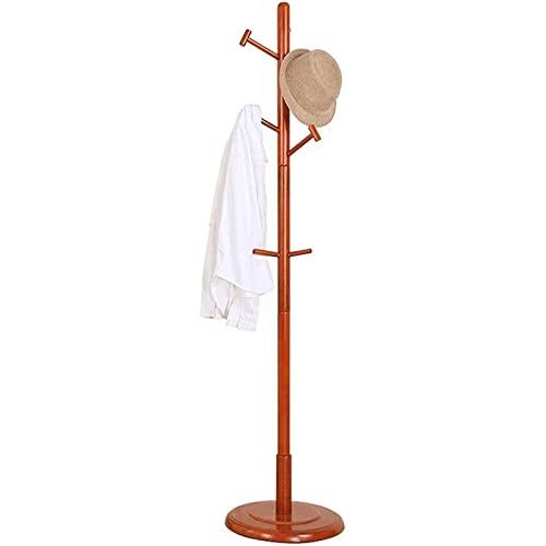Rack de abrigo con estante de madera maciza 9 mermelaciones de piso de pie Sombrero de piso Hat Bagbag Hanger, abrigo industrial Árbol 40x40x180cm