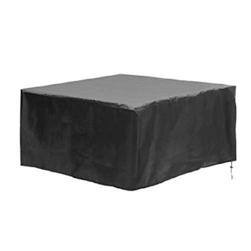 ZQIAN Funda Protectora 180x150x80cm Anti Viento/UV Impermeable Funda Protectora para Muebles Anti-desvanecimiento Resistente al Desgarro para Sofa de Jardin al Aire Libre Patio, Negro