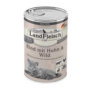 Landfleisch Cat Kitten Pastete Rind+Huhn+Wild | 6X 400g Katzenfutter