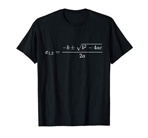 Equazione di Secondo Grado - Matematica Nerd Math Maglietta