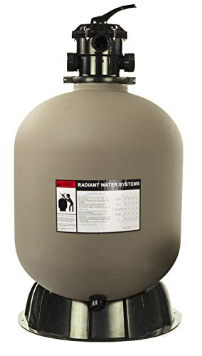 Rx Clear Radiant 24 Inch Sand Filter System | for In-Ground Swimming Pools Up to 33,000 Gallons | 6-Way Top Mount Filter Valve