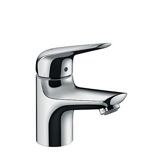 hansgrohe Wasserhahn Novus wassersparende Armatur, Standventil für Kaltwasser, Auslauf Höhe 70mm mit Zugstangen Ablauf, ohne Ablaufgarnitur, Chrom