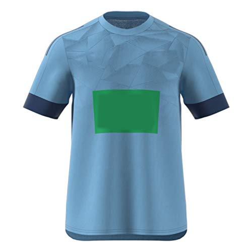 American Football Jersey Hurrǐcǎněs Rugby Jersey Herren T-Shirt Spieler Jersey Running Anzug Ball Spiele Freizeit Walk Junge Menschen Polyester Hohe Flexibilität Blue-L