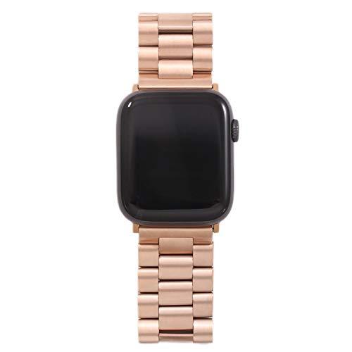 PZZZHF Banda para Apple Watch6 5 4 3 2 1 42mm 38mm 40 mm 44mm Metal Acero Inoxidable Correa de Brazalete de Banda de Banda para iWatch Series Accesorios (Band Color : 10MJ, Band Width : 42MM 44MM)