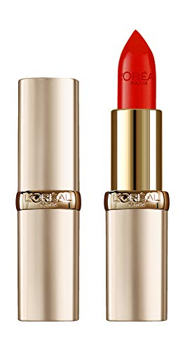 L'Oréal Paris Rossetto Lunga Durata Color Riche, Colore Pieno, Finish Satinato, 377 Perfect Red, Confezione da 1