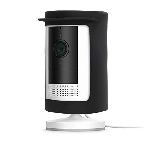 kwmobile Funda Compatible con Ring Stick Up Camera Wired/Battery - Cover de Silicona para cámara de Seguridad Exterior - Negro