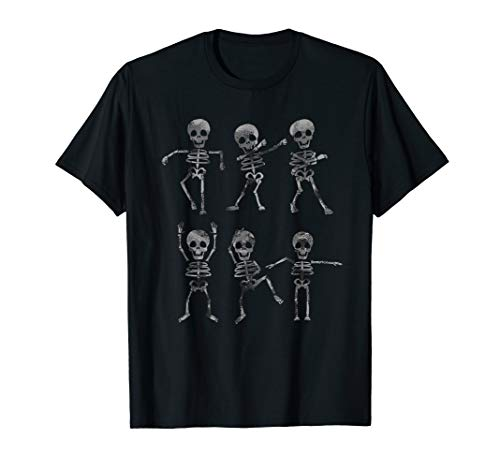 Dancing Skeletons Dance Challenge Boys Girl Kids Halloween T-Shirt