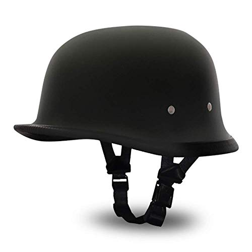 Dull Black German Helmet for Bikers