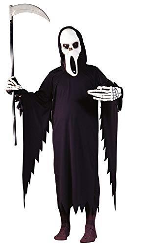 Foxxeo Halloween Kostm fr Kinder Sensemann Gespenst Sensenmann fr Jungen Grße 134-140