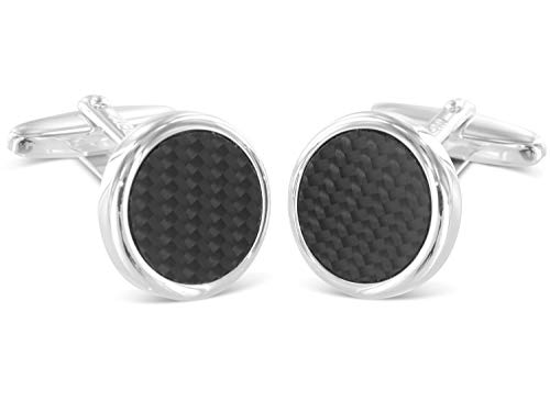 Grom Cufflinks Argent Race Carbon