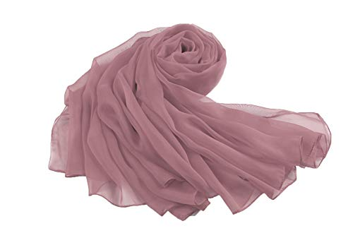 Flora, stola avvolgente in chiffon, per spose e damigelle d'onore, lunga 228,6cm, misura L, adatta a serate eleganti Dusky Pink Taglia unica