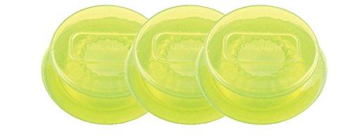 Silikomart 25.028.90.0061- Couvercles en Silicone, Vert Translucide, 0,5 x 11 x 11 cm - Lot de 3