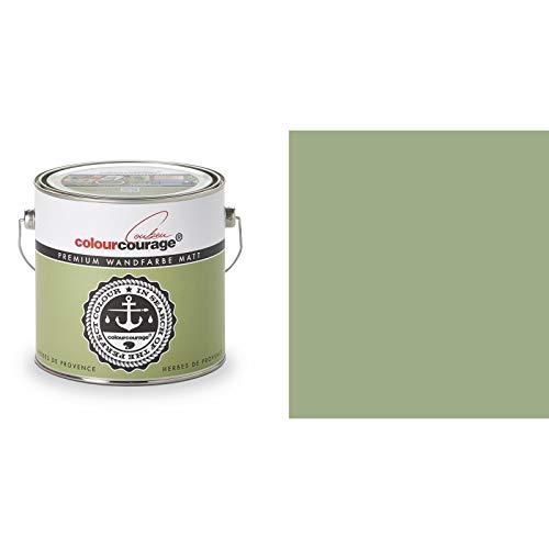 2,5 Liter Colourcourage Premium Wandfarbe Herbes de Provenc Grün | L709449577 | geruchslos | tropf- und spritzgehemmt