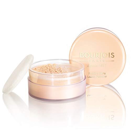 Bourjois - Poudre Libre - Fixe le maquillage sans dessécher la peau - Teint matifié et unifié - 03 Doré 32gr
