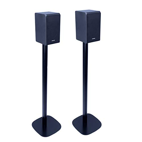 Vebos Floor Stand Samsung HW-Q90R Black Set en Optimal Experience in Every Room - Allows You to Place Your Samsung HW-Q90R Exactly Where You Want it - Compatible with Samsung HW-Q90R