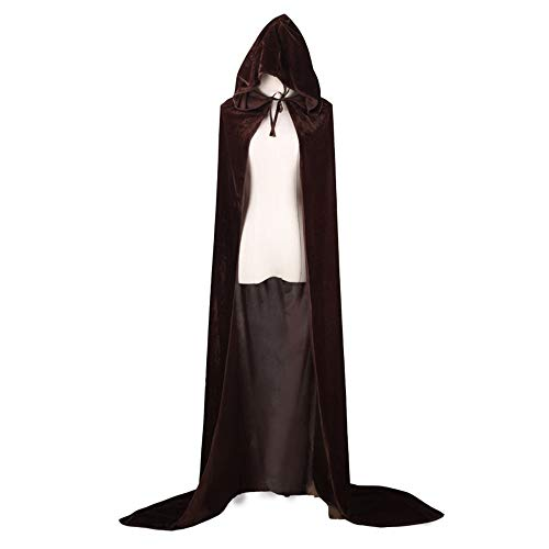 Capa de terciopelo dorado para Halloween Grim Reaper COS Wizard Witch Prince Princesa