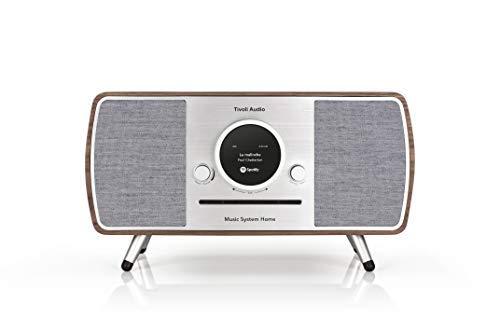 Tivoli Audio (Art Collection) Music System Home - Impianto compatto All-in-one DAB+/UKW con tecnologia wireless WLAN e Bluetooth, colore: Noce/Grigio