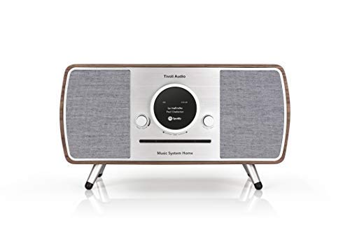 Tivoli Audio (Art Collection) Music System Home - Impianto compatto All-in-one DAB+/UKW con tecnologia wireless WLAN e Bluetooth, colore: Noce/Grigio