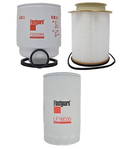 Buyer$ Lair Kit - Compatible with Dodge Ram 6.7L Diesel Fleetguard Cummins Oil Filter LF16035, Fuel Filter FS53000 & Fuel/Water Separator Filter FS20089 Kit for 2013-2018 Models 2500/3500/4500/5500