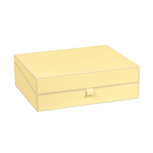 Semikolon (352589) Dokumentenbox chamois (sand) - Aufbewahrungs-Box für Dokumente im A4 Format - geräumige Box im Format 31,5 × 26 × 10 cm