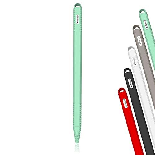 Antetek Capa lavável com proteção de 360° para Apple Pencil 2ª geração, proteção de silicone macio com acessórios de tampa, à prova de choque e antiqueda capa para iPencil, suporte macio (verde)