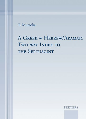 Download A Greek-Hebrew/Aramaic Two-way Index to the Septuagint 9042923563