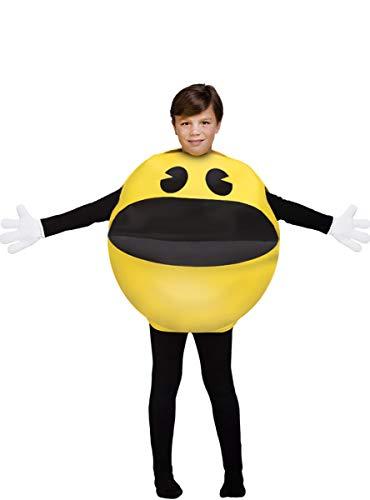 Funidelia | Disfraz de Pac-Man Oficial para niño y niña Talla 4-10 años ▶ Comecocos, Videojuegos, Años 80, Arcade - Amarillo
