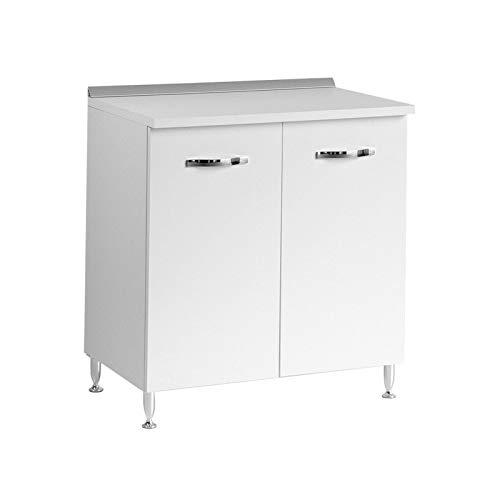 Base per cucina bianco frassinato Cm 80x50xH 85 con 2 ante