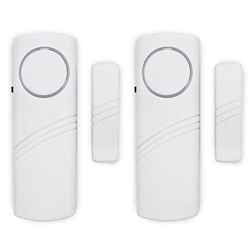 Adapter Universe deuralarm raamalarm alarmsysteem 90 dB geluidsdruk sirene inbraakbeveiliging systeem voor binnen en huis 2 stuks.