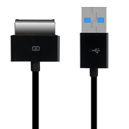 kwmobile Cavetto di Ricarica Compatibile con ASUS EEE Pad Transformer TF101 / TF300 / TF201 / TF700 - Cavo USB Carica - Nero