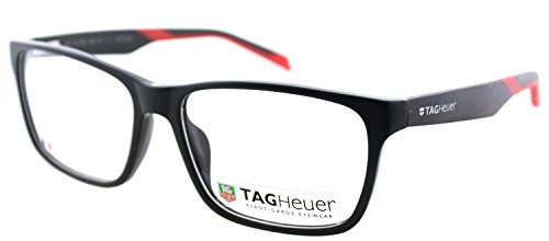 TAG B-URBAN 0552 C-005 Matte Black With Red Plastic Rectangle Eyeglasses