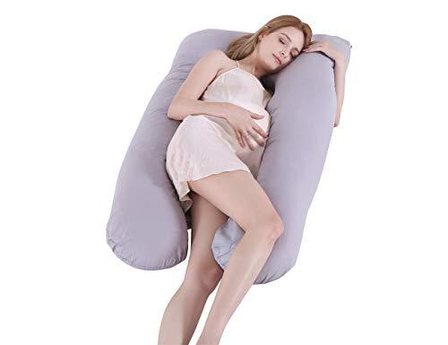 SALAD HOUSE Schlafmatratze - U-förmiges Schwangerschaftskissen und Seitenschläferkissen und waschbar - Bezug aus 100% Baumwolle