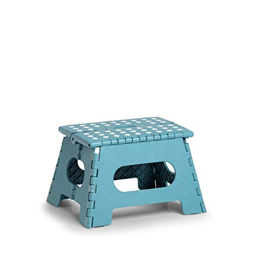 HTI-Living Klapphocker Kunststoff Hocker Sitzmöbel Eisblau