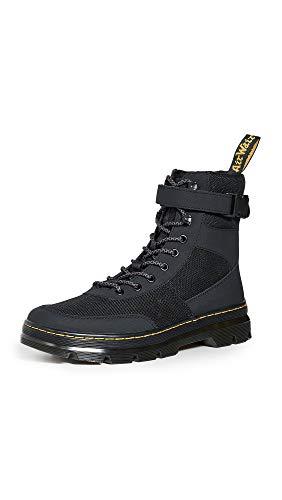 Heren Dr Martens Combs Tech zwart nylon duurzaam suède mode enkellaarsjes - zwart - 46