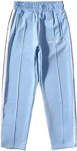 OEDO Jogger Hose Herren Damen Angels Palm Engels Sporthose, Fitness Slim Fit Hose Freizeithose Trainingshose Sweathose Joggers Streetwear (L,Blue)