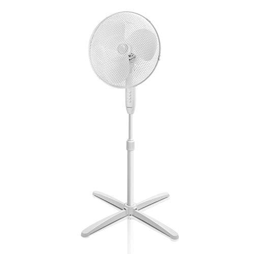 Aigostar Daisy 33JTP - Ventilador de pie oscilante, 3 velocidades, diámetro 45 cm, 40W. oscilación de 80 grados. Altura regulable, máxima 1,3 m. Diseño exclusivo.