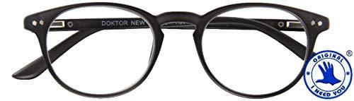 I Need You leesbril +3,5 model DOKTOR NEW zwart kant-en-klare bril U & HN etui