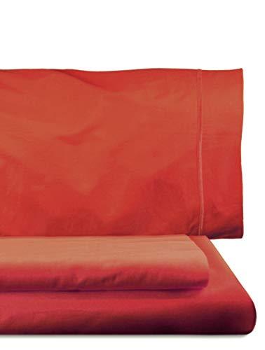Lasa Royal - Juego de funda nórdica, 240 x 220 cm, bajera ajustable, 158 x 200 cm, 2 fundas para almohada, 45 x 85 cm, color rojo
