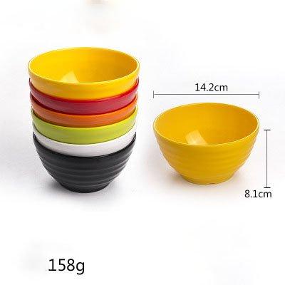 Bol à assaisonnement en plastique coloré et bol de riz en 6 couleurs assorties