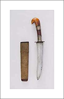 Philippine, Mindanao Culture - 12x20 Art Print by Museum Prints - Dagger with Sheath