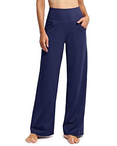 G4Free Pantalones Deportivos de Yoga para Mujer Pantalones Suaves Largos/Cortos Estiramiento de Cintura Alta con Bolsillos para Correr