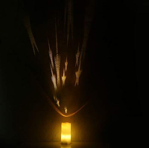 Led-projectielamp paraffine-kaars cadeau sterrenhemel nachtwax kinderen sfeerverlichting decoratie slaapkamer verjaardag café bar A