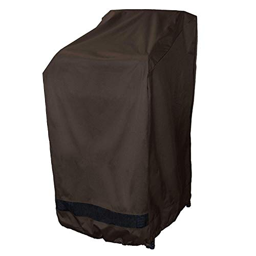 True Guard Patio Furniture Covers Waterproof Heavy Duty - Stackable Patio Chair Cover, 600D Rip-Stop, Fade/Stain/UV Resistant for Outdoor Patio Furniture, Dark Brown