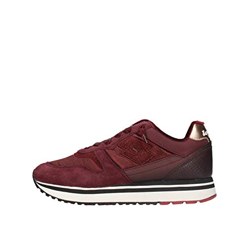 SNEAKERS DONNA LOTTO SLICE W ALL BLACK FIG RED TAWNY RED 212418-5QF 219-40