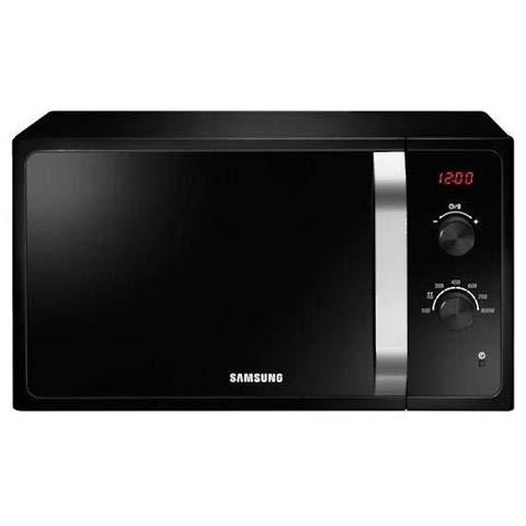 Horno microondas Samsung MS23F300EEK, pantalla con temporizador electrónico, capacidad 23 litros, potencia 800 W, apertura de puerta extraíble, color negro