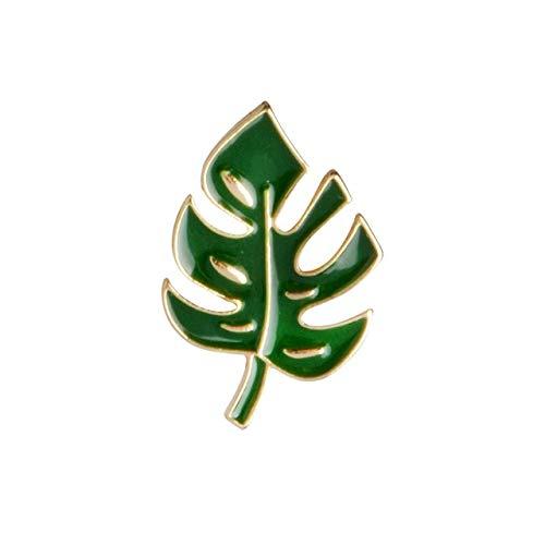 chenlong Einfache Karikatur grüne Pflanze Kokosnussbaum Kaktusblatt Metall Brosche Stifte DIY Button Pin Jeansjacke Pin Abzeichen Geschenk Schmuckblatt