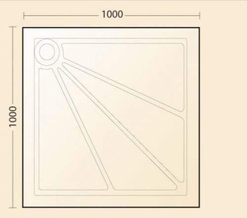 Impey Quantock 1000 x 1000 niveau toegang/standaard installeren douchebak
